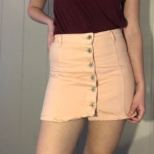 Pink button-up Forever 21 skirt